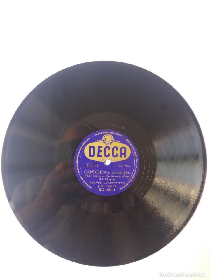 Discos de pizarra: L.P. DE PIZARRA, 78 RPM. CARA A. Y B. CANDILEJAS, DE CHARLES CHAPLIN, VER LAS FOTOS. - Foto 4 - 225922570