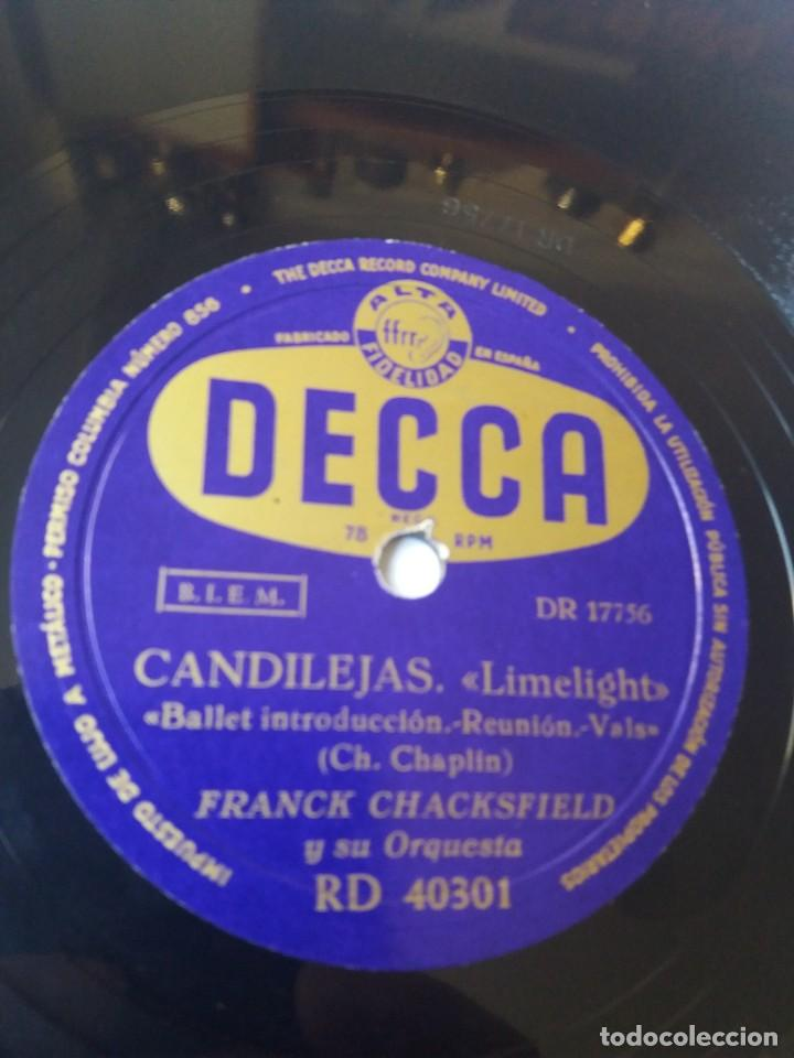 Discos de pizarra: L.P. DE PIZARRA, 78 RPM. CARA A. Y B. CANDILEJAS, DE CHARLES CHAPLIN, VER LAS FOTOS. - Foto 3 - 225922570