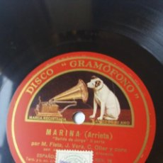 Discos de pizarra: L.P. DE PIZARRA, 78 RPM. CARA A B. MARINA (ARRIETA) MIGUEL FLETA Y CORO LAS DOS PARTES.LAS FOTOS.. Lote 225928135