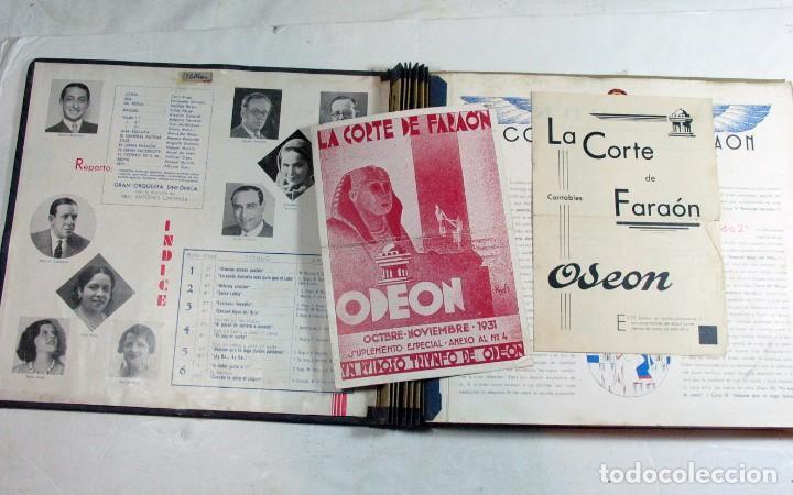 Discos de pizarra: ODEON. LA CORTE DEL FARAON. ZARZUELA COMPLETA. CONSERVA FOLLETOS - Foto 2 - 226057148