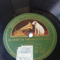 Discos de pizarra: L.P. DE PIZARRA, 78 RPM. CARAS A/B. CLASE DE GRAMÁTICA, EL DEBÚT DE SIMEÓN. VER LAS FOTOS. Lote 226163715