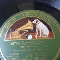 Discos de pizarra: L.P. DE PIZARRA, 78 RPM. CARAS A/B.JOTAS. EL BATURRICO, SI UN CARIÑO TRAICIONERO. NO H VER FOTOS. Lote 226400085