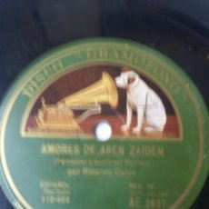 Discos de pizarra: L.P. DE PIZARRA, 78 RPM.MARCHA TRIUNFAL(RUBÉN DARIO) AMORES DE ABEN ZAIDEN. VER FOTOS. Lote 226400665