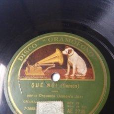 Discos de pizarra: L.P. DE PIZARRA, 78 RPM. LA RAMBLA, QUÉ NÓ (DEMÓN) POR LA ORQUESTA DEMON'S JAZZ. VER FOTOS. Lote 226401375