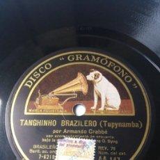 Discos de pizarra: L.P. DE PIZARRA, 78 RPM. OJOS TAPATÍOS, TANGHINHO BRAZILEIRO.(TUPYNAMBA) NO H.VER FOTOS. Lote 226480740