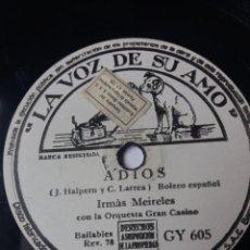 Discos de pizarra: L.P. DE PIZARRA, 78 RPM. TICO PICO, PELÍCULA DISNEY SALUDOS AMIGOS. ADIOS, IRMÁS MEIRELES VER FOTOS. Lote 226488015