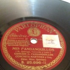 Discos de pizarra: L.P. DE PIZARRA, 78 RPM. MIS FANDANGUILLOS, CONCHITA MARTÍNEZ. MARÍA DE LA O.CANCIÓN ZAMBRAVER FOTOS. Lote 226493145