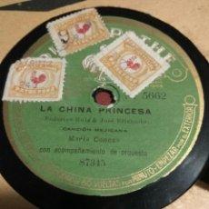 Discos de pizarra: DISCO PATHE POR MARIA CONESA, LA CHINA PRINCESA Y EL CLIMA. Lote 226695670