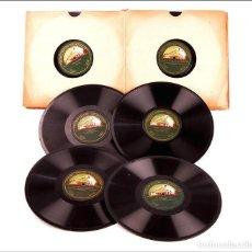 Discos de pizarra: ÁLBUM CON 12 DISCOS DE GRAMÓFONO ANTIGUOS. MÚSICA CLÁSICA Y TRADICIONAL. ÁLBUM ORIGINAL. Lote 227192950