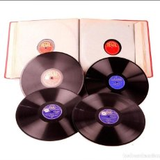 Discos de pizarra: ÁLBUM CON 12 DISCOS DE GRAMÓFONO ANTIGUOS. MÚSICA CLÁSICA. ÁLBUM ORIGINAL. Lote 227193230