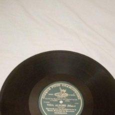 Discos de pizarra: VIDA ALEGRE (MAZZI). DISCO DE PIZARRA DE 78 RPM. DISQUE POUR GRAMOPHONE. Lote 229224035