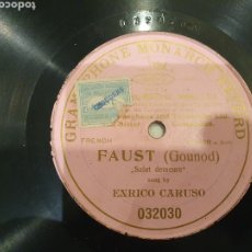 Discos de pizarra: FAUST ENRICO CARUSO. Lote 229876020