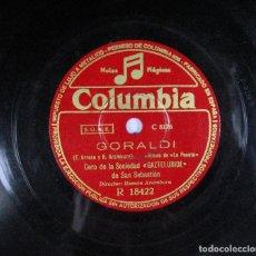 Discos de pizarra: IXIL – IXILIK / GORALDI. CORO DE LA SOCIEDAD GAZTELUBIDE DE SAN SEBASTIÁN. VASCO. COLUMBIA. PIZARRA. Lote 230598240