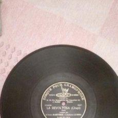 Discos de pizarra: LA REVOLTOSA (CHAPÍ) CANTADO POR EL SR. MARTÍNEZ Y LA SRTA. GURINA. DISCO DE PIZARRA 78 RPM. Lote 230922735