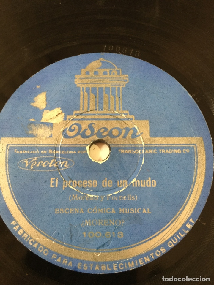 DISCO PIZARRA ODEON EL PROCESO DE UN MUDO/JA JA JA-MUY RARA VERSION (Música - Discos - Pizarra - Bandas Sonoras y Actores )