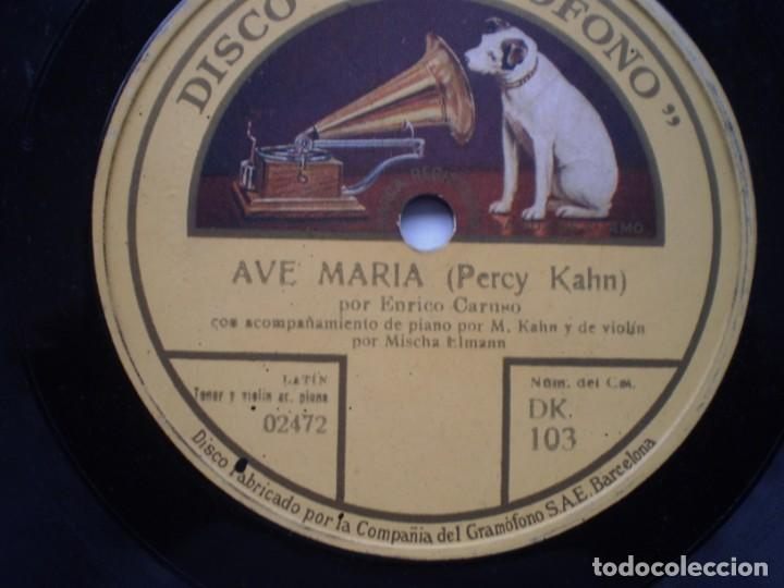 Discos de pizarra: ave maria enrico caruso elegie gramofono - Foto 2 - 232416718