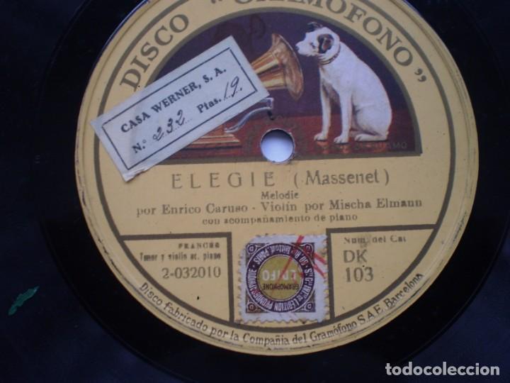 Discos de pizarra: ave maria enrico caruso elegie gramofono - Foto 3 - 232416718