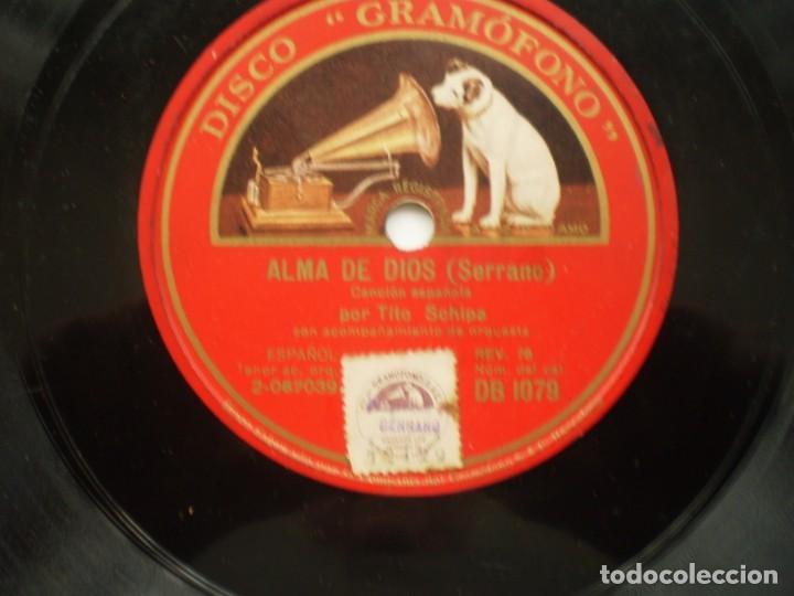 Discos de pizarra: tito schipa alma de dios / la partida gramofono - Foto 2 - 232417050