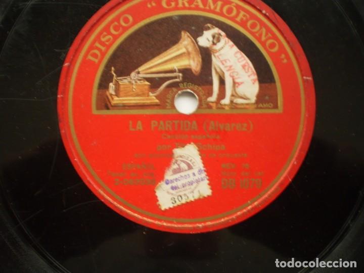 Discos de pizarra: tito schipa alma de dios / la partida gramofono - Foto 3 - 232417050