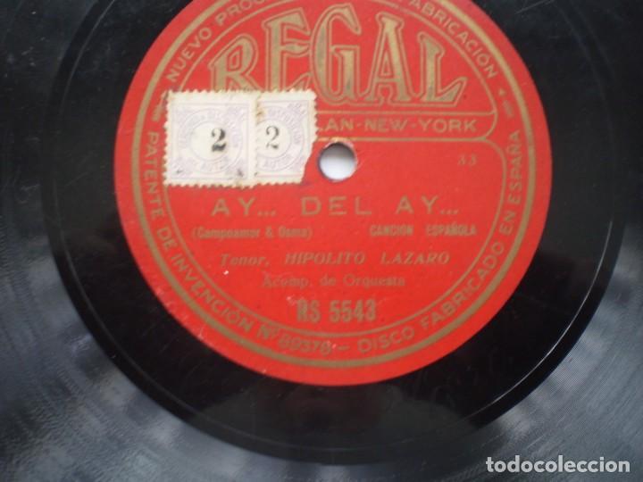 Discos de pizarra: hipolito lazaro carmen / ay.. del ay regal rs5543 - Foto 3 - 232417983