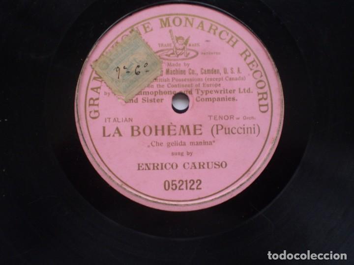 Discos de pizarra: la boheme che gelida manina enrico caruso monarch record - Foto 2 - 232418328