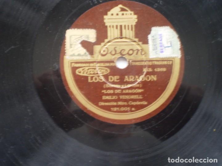 Discos de pizarra: emilio vendrell los de aragon / aguita que val al mar odeon - Foto 2 - 232418685