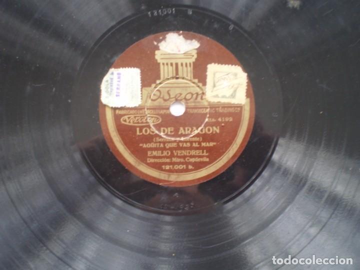Discos de pizarra: emilio vendrell los de aragon / aguita que val al mar odeon - Foto 3 - 232418685