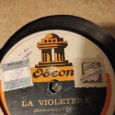 Discos de pizarra: LA VIOLETERA / LA CAUTIVA DE GRANADA RAQUEL MELLER. Lote 232628490
