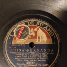 Discos de pizarra: LUISA FERNANDA. Lote 232628650