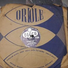 Discos de pizarra: 14-00268- DISCO GRAMOFONO 78 RPM -SELLO DECCA -1 IF I LOST YOU- 2 THE ADORATION WALTZ - DAVID WHITFI. Lote 232888910