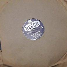 Discos de pizarra: 14-00269- DISCO GRAMOFONO 78 RPM -SELLO DECCA -1 THIS IN LUCIA- 2 LOVE IN THE STRANGER - DAVID WHITF. Lote 232888990