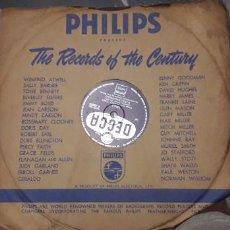 Discos de pizarra: 14-00270- DISCO GRAMOFONO 78 RPM -SELLO DECCA -1 HOW WHEN OR WHERE- 2 SMILE - DAVID WHITFIELD. Lote 232889080