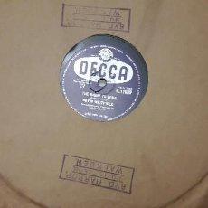 Discos de pizarra: 14-00274- DISCO GRAMOFONO 78 RPM -SELLO DECCA -1 THAT WHEN YOUR REARTACHES- 2 THE RIGHT TO LOVE - D. Lote 232889618