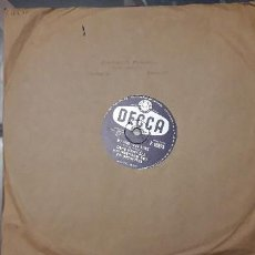 Discos de pizarra: 14-00276-DISCO GRAMOFONO 78 RPM -SELLO DECCA -1 CRY MY HEAD- 2 MY ONE TRUE LOVE - DAVID WHITFIELD. Lote 232889730