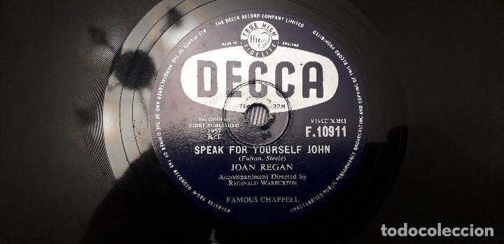 Discos de pizarra: 14-00279- DISCO gramofono 78 RPM -sello decca -1 wonderful, wonderful- 2 speak for yourself john -jo - Foto 2 - 232889967