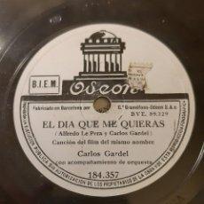 Dischi in gommalacca: CARLOS GARDEL. Lote 233148010