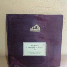 Disques en gomme-laque: ÁLBUM CON 4 DISCOS DE VINILO BEETHOVEN SYMPHONIE NO5. Lote 234012010