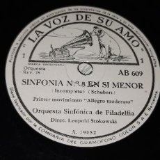 Discos de pizarra: SCHUBERT - ORQUESTA SINFÓNICA DE FILADELFIA. Lote 234671135
