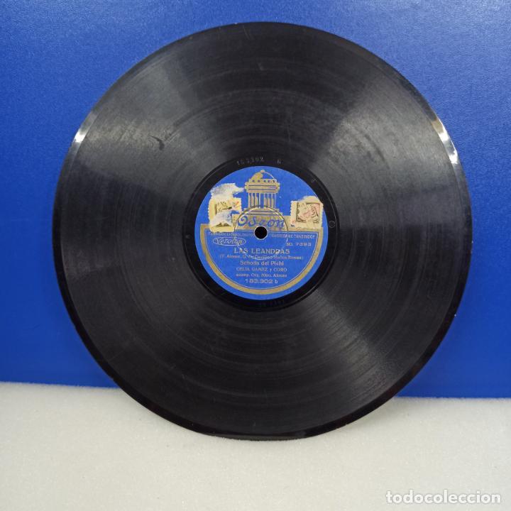ANTIGUO DISCO PIZARRA LAS LEANDRAS (Música - Discos - Pizarra - Flamenco, Canción española y Cuplé)