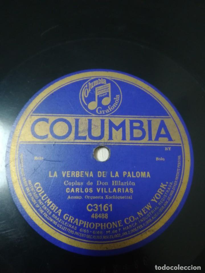 ZARZUELA 78 RPM. COPLAS DE DON HILARIÓN. LA VERBENA DE LA PALOMA. JOSÉ CHAQUES. CARLOS VILLARIAS. (Música - Discos - Pizarra - Clásica, Ópera, Zarzuela y Marchas)