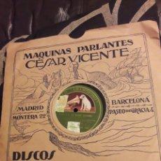 Discos de pizarra: ANTIGUO DISCO DE PIZARRA, TRIO ARGENTINO. Lote 234979050