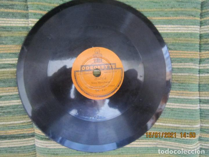 Discos de pizarra: NIÑO MARCHENA - FANDANGO / SOLEA - SINGLE PIZARRA DE 6 PULGAS - ODEONETTE RECORDS - Foto 2 - 235296990