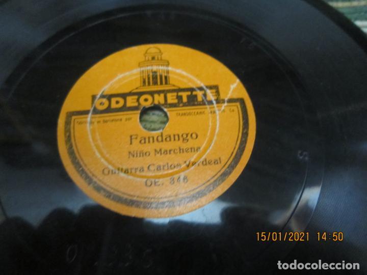 Discos de pizarra: NIÑO MARCHENA - FANDANGO / SOLEA - SINGLE PIZARRA DE 6 PULGAS - ODEONETTE RECORDS - Foto 4 - 235296990