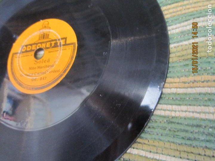 Discos de pizarra: NIÑO MARCHENA - FANDANGO / SOLEA - SINGLE PIZARRA DE 6 PULGAS - ODEONETTE RECORDS - Foto 5 - 235296990