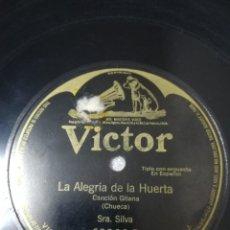 Discos de pizarra: ZARZUELA 78 RPM FELISA LÁZARO / SILVA. LA ALEGRÍA DE LA HUERTA. EL GÉNERO ÍNFIMO.. Lote 235523615
