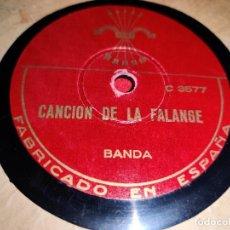 Discos de pizarra: BANDA CANCION DE LA FALANGE 10'' 25 CTMS JONS C3577/75 ESPAÑA SPAIN. Lote 236005500