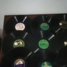 Discos de pizarra: LOTE DE 50 DISCOS VARIADOS. Lote 236034240