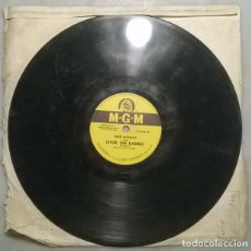 Discos de pizarra: SHEB WOOLEY. OVER THE BARREL/ AIR CASTLES. MGM, USA 1951 PIZARRA 10'' 78 RPM. Lote 236262495