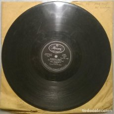 Disques en gomme-laque: BILL WIMBERLY & COUNTRY RHYTHM BOYS. BACK STREET/ MISSOURI DRAG. MERCURY, USA 1957 10'' 78 RPM. Lote 236268835