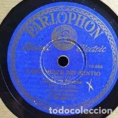 Discos de pizarra: NIÑO LUCENA – QUE ESTABA LOCA DE VERDAD / AUN QUE TE AMPARE LA SUERTE / A UNA MUJER SIN SENTIO. Lote 236423700